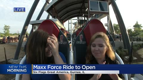 Record-breaking roller coaster debuts at Six Flags Great America